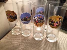 Revolutionary War Glasses - set of 8.