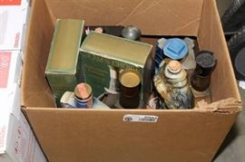Box of Whisky Decanters.