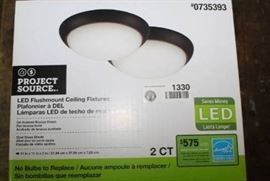 2 LED Flushmount Oiled Bronze Finish Ceiling Fi ...