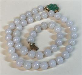 Lot 4 Lavender Jade Necklace