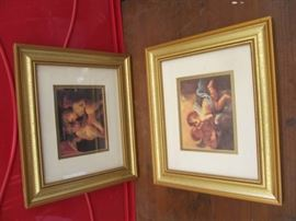 2 12 x 14 Gold framed Angel pics very good co ...