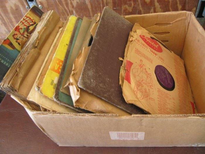 Box of 45 78s Records