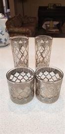 Vintage Silver embellished glassware