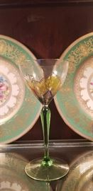 Beautiful Antique hand painted goblets
