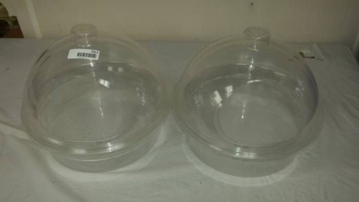 2 Double Dome Plexiglass Countertop Bakery Displ ...