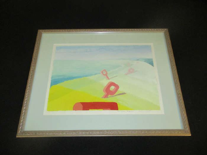 Watercolor, Holly Cheff, Holland Michigan,  framed.