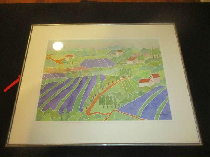 Patricia Flynn watercolor, Holland Michigan, 20 by 25, framed, artwork.
