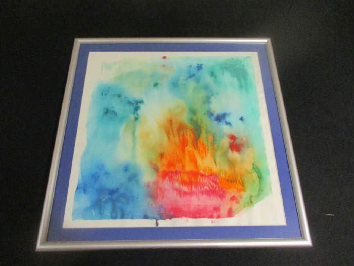 Watercolor framed, no signature