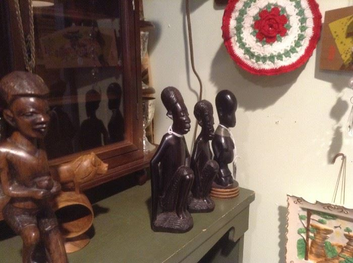 Hand Carve African Wood Figurines