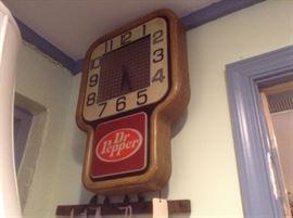 1960's Dr. Pepper Lighted Clock