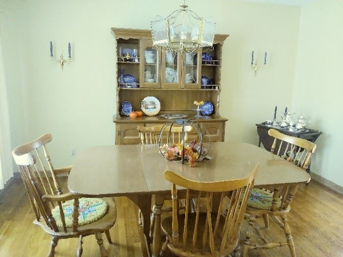 Dearborn Collection dining set and China hutch - Provincial