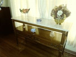 Sofa/wall table w/marble top