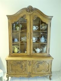 fabulous carved China cabinet