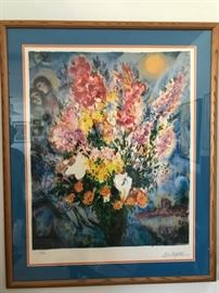 Blue Bouquet by Marc Chagall 350/500.  Purchased at the Hadasa Hospital in Israel next to Chagall windows in 1996.
