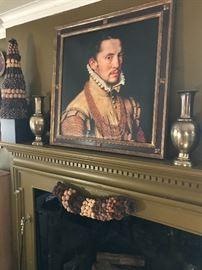 Portrait of an Italian gentleman in the 20 century frame