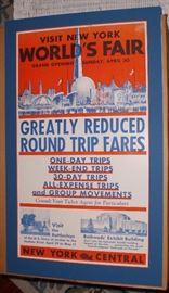 NY Central RR sign for 1939 1940 NY World's Fair