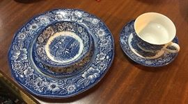 One of the 5-Piece Place Settings of the LIBERTY BLUE by Staffordshire