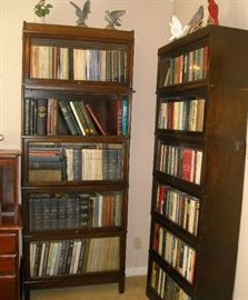 Many nice vintage stacking bookcases throughout the home. Including: Hale of Herkimer NY,  Globe Wernicke, Fred Macy