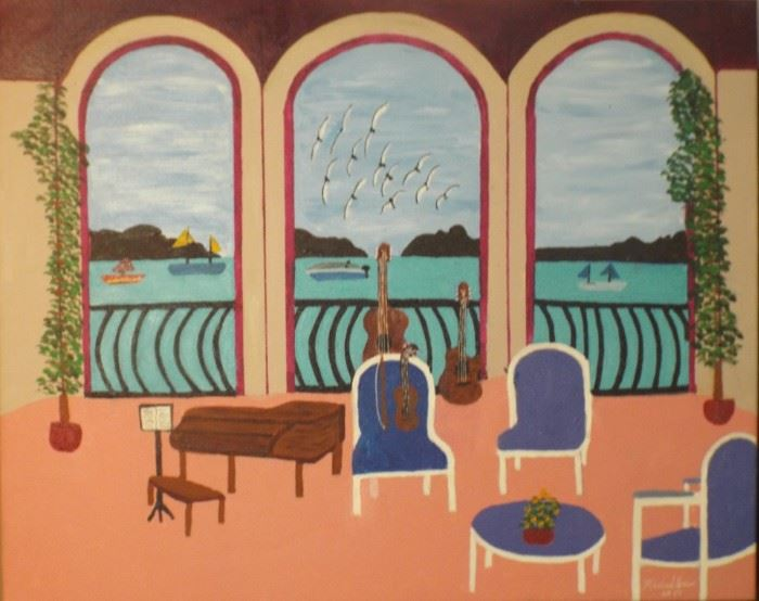 2 Veranda Naples Italy 24 X 30 Starting Bid $130