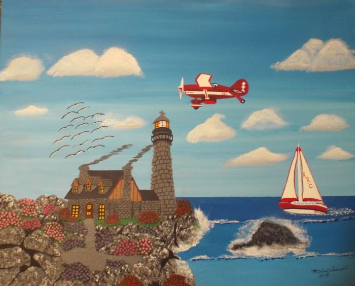 12 Lighthouse Rome 24 x 30 12 Starting bid $105