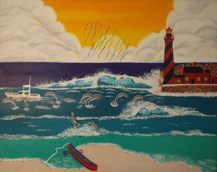 13 Lighthouse San Juan 24 x 30 13 Starting bid $115