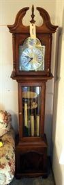 "Howard Miller Tempus Fugit Grandfather Clock, 76"" x 16.25"" x 10"""