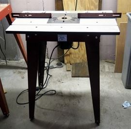 Craftsman 1.5HP Router Model# 315.175040 With Foot Pedal And RBI Industries Routing Table Model #1830