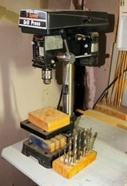 Nu-Mark Professional Quality Drill Press Model# 60-085, Includes And An Assortment Of Drill Bits