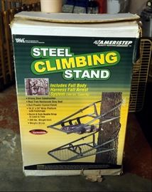 Ameristep Steel Climbing Stand, New In Box Includes Full Body Harness