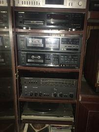 Multiple vintage electronics
