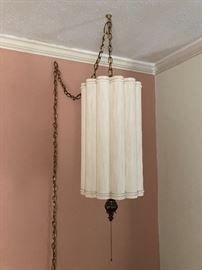 Vintage retro swag lamp light