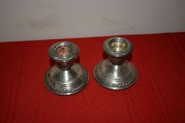 WEIGHTED STERLING CANDLEHOLDERS