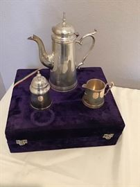 Silverplated Tea Set from India