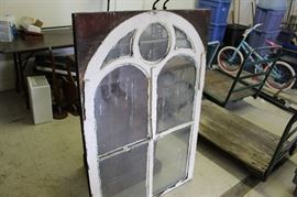 vintage 1800's window from building off downtown square in Fayetteville TN