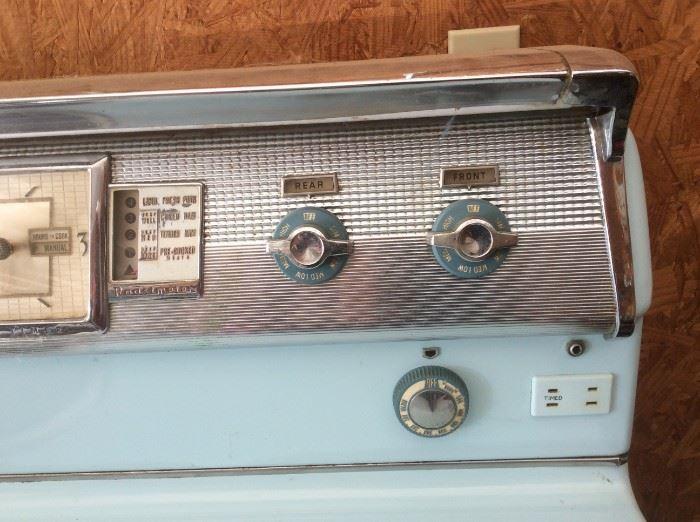 Vintage (1957) Philco Light Blue Electric Stove