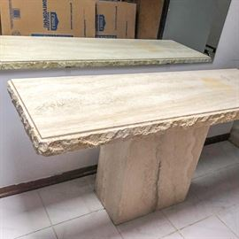 Made In Italy Marble Hall Table