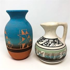 Red Clay Signed Pottery And Mesa Verde Pottery