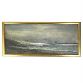 F. Baker, Oil on Canvas, Coastal Scene