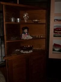 corner cabinet with matching magazine rack