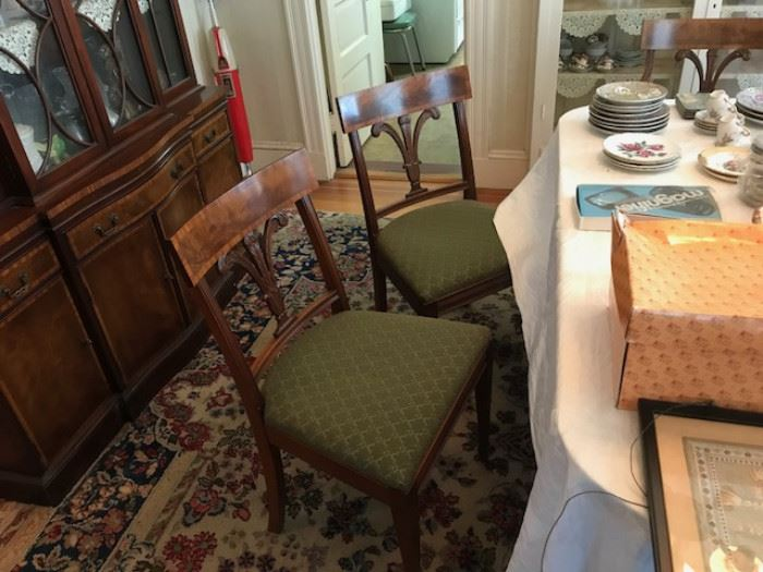 2 of the dining chair set.