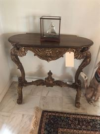 Carved giltwood table