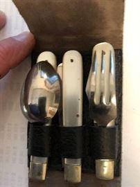 Noyer folding utensil set in original case