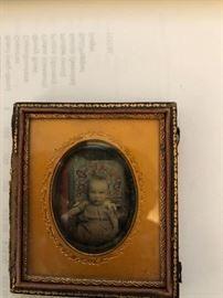 Antique tintype photo of Helen A. Pillsbury 1854-?
