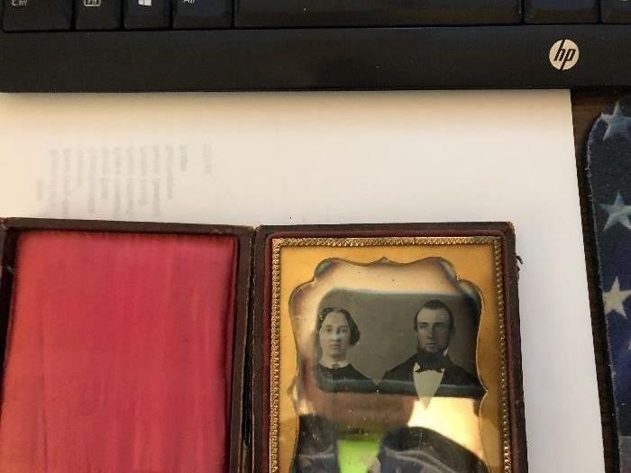 Antique tintype photo in original case with clasps Circa 1870s-1880s
