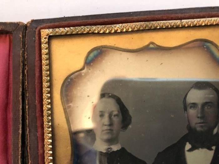 Excellent quality tintype photo in case Circa 1870-1880
