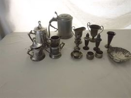 Vintage Pewter and Silver Plate