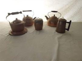 Antique / Vintage Copper Tea Kettles