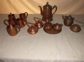 Vintage Copper Coffee Set and More