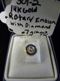 14KT Gold Rotary Emblem