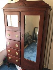Antique Armoire.  Completely refinished and ready to use. $150